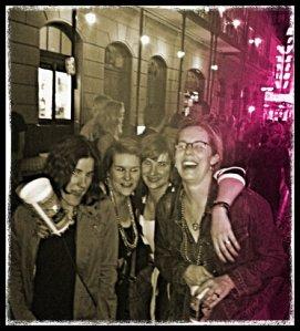 Bourbon Street revelers.
