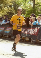 The last few miles were tough, but the feeling was sweet at the finish line of the Rock and Roll New Orleans Marathon.