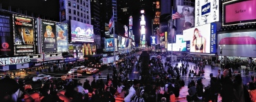 The frenzied atmosphere of Times Square comes across in this panoramic shot, which was captured with a Samsung WB850. Seventh Avenue can be seen on the left of the photo with Broadway on the right.