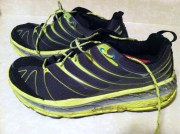 My Hokas were mud covered after 20 miles on the wet roads on Sunday afternoon.
