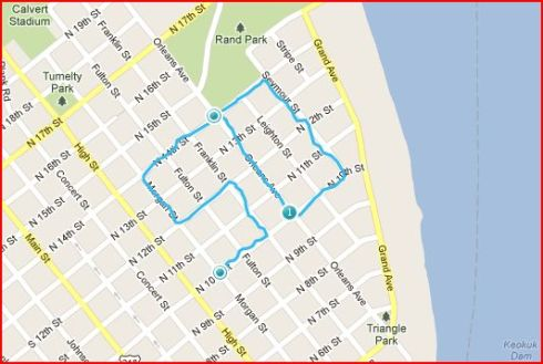 "GPS drawing of a ""50"""