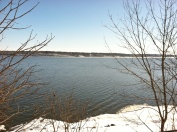 Most of the ice had gone out of the Mississippi River in early March 2013 near Keokuk, Iowa.