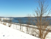 It was a bluebird day in early March along the Mississippi River near Keokuk, Iowa.