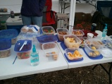 Organizers had almost every kind of snack food imaginable for runners.