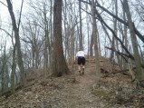Barb captured this shot of me in the middle of Golf Hill.