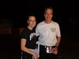 Barb and I pause for a photo after completing the race. I managed 50 miles, and Barb got in 20.