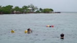 Snorkeling off Abigail Caye, which is about 8 miles offshore from Placencia.