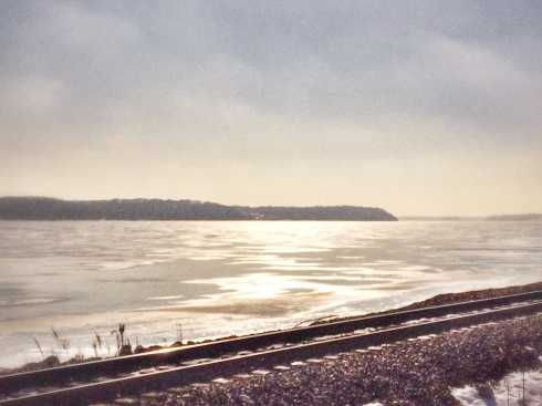 The Mississippi River near Keokuk, Iowa, was iced over for much of January and February.