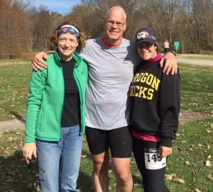 I couldn't have met my goal without the help of my wife, Barb, who ran 50 miles in the process, and my daughter, Laura, who hiked 24 miles and crewed for us.