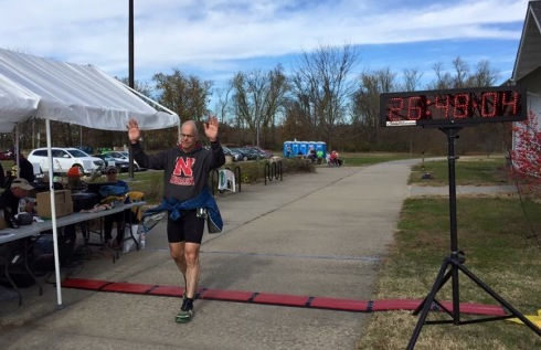Crossing the finish line in 26:48:04. It was a great feeling to be done and reach a major goal.
