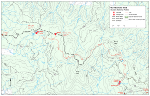 Forest Service map, Mt. Hebo area trails